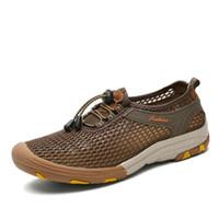 Slip-On aqua brown fabric - 2016 Aqua Shoes Ultra light Quick drying Beach Water River Walking Summer Women Men Breathable Flotillas Outdoor Shoes