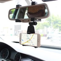auto mirror holder - Degrees Rotation Auto Car Rearview Mirror Mount Stand Holder Cradle For Universal Cell Phone GPS