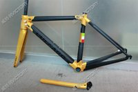 Wholesale 2017 Newest Black Gold C60 carbon frame size cm new carbon bicycle frame K weave BB386 BB30 or BB68 adapter