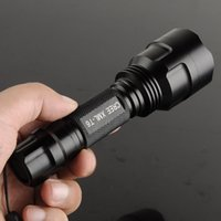 Wholesale Super Bright C8 Cree XM L T6 Mode Camping Led Flashlight Torch Light Lamp for battery