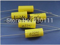 Polypropylene Film Capacitor amp capacitors - and retail long leads yellow Axial Polyester Film Capacitors electronics uF V fr tube amp audio