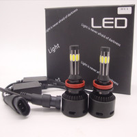 Wholesale 160W LM h11 Cree Car sides LED Headlights COB Car LED Headlight Bulbs driving lamp H4 H7