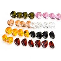 al por mayor circón suelta-La pera 50pcs / lot cortó las piedras preciosas flojas de los diamantes 7x10m m VVS de las gemas del Zircon del AAA 7 colores
