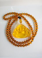 Wholesale 2016 High Quality Unique Natural jade Carved Buddha Lucky Amulet Pendant Necklace For Women Men pendants Jade Jewelry