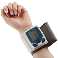 automatic measuring - 2016 New pc Digital LCD Wrist Cuff Arm Blood Pressure health monitors Heart Beat Rate Pulse Measure Meter health care Machine