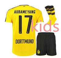 Wholesale Dott kids Borussiaed Dortmundes plus socks September Boy T shirt futbol maillots Dortmund