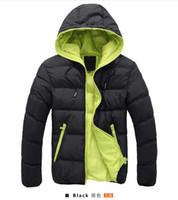 Wholesale New fashion Winter men jackets warm jacket coat Mens Coats Brand Sport Jackets Winter Men s Overcoats Size M XL