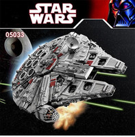 Wholesale BLOCKS Star Wars Ultimate Collector Millennium Falcon Model Building Kit Blocks Bricks Toy with retail box DHL SHIPPING