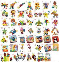 50sets Jouets Lamaze Jouet jouets avec hochet dentition Bébé développement précoce poussette jouet musique Poupée jouet Lamaze Tissu Livre Livres