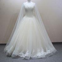 Wholesale Luxury Vestido De Novia Crystal Beaded Appliques Sweetheart Lace up Floor Length Wedding Dresses Bridal Gown