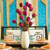 arranging tulips - 1Pc simulation The tulip Silk flowers simulation flower Household flower arranging DIY Home Decor flowers supplies
