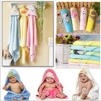 baby dry suit - Baby Bathrobe blanket baby Hooded towel blanket Cotton Towel Robes Infant Toddler Bathing Suits Bathrobes soft robe in cartoon embroidery