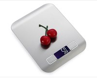Wholesale LCD Digital Kitchen Scale Fingerprint proof Stainless Steel Platform g g Weighing Device Electric Food Weight Scales