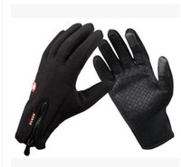 Wholesale Warm winter men Gloves bicycling riding touch glove boy Cycling Black gloves Outdoor warm gloves High quality