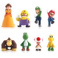 Wholesale NEW Super Mario Bros Yoshi Wario Action Figures Vinyl Doll Model PVC Toy Doll Mario Luigi Yoshi New Game Movie Anime