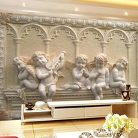 Wholesale Custom European Style D Embossed Photo Wallpaper Sofa TV Background Mural Papel De Parede D Murals Wall Papers Roll Home Decor
