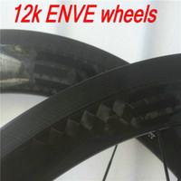 Wholesale light weight k weave glossy finish clincher mm full carbon bike wheels black EN bicycle wheels smart cycing wheels