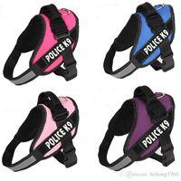 Wholesale Reflective Dog Harness Vest JULIUS Police K9 Pet Vests Nylon Chest Strap Traction Convenient Comfortable Dogs Collar Hot pt5