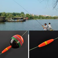 mar rojo al por mayor-Venta al por mayor- 5Pc Rojo Rock Mar Pesca Anti Bar Viento Cara Rod Bobber Float tapones Pesca Accesorios de pesca