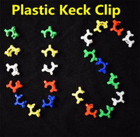 Wholesale 2016 Pupular mm mm mm Plastic Keck Clip Laboratory Lab Clamp Clip Plastic Lock Glass adapter for Glass Bong Nectar Collector