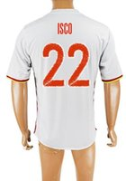 alonso spain jersey - Customized spain away ISCO Thai Quality Soccer Jerseys Shirts tops ALONSO Football Jersey DEGEA TORRES Soccer wear tops