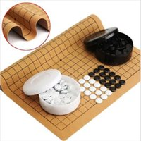 Wholesale Weiqi Professional Go Game Suede Leather Sheet Chinese Play Fun for family fun activities among friends