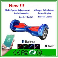 Wholesale Phone APP LED Scooter Electric inch Two Wheels Self Balancing Wheel Smart Electric Hoverboard Bluetooth Skateboard Scooters Dropshipping