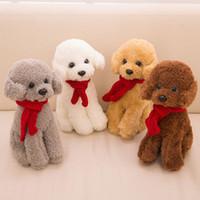 Juguetes populares de peluche Puppy de la venta Juguetes lindos del peluche de la simulación de los muñecos de animales rellenos Creativos regalos cómodos del cojín JA0214