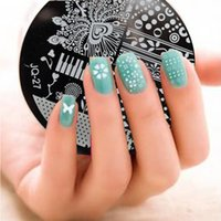Wholesale NEW Designs Nail Art Image Stamp Stamping Plates Manicure Template Stamper Peacock Tail Piano Beads Pattern JQ27