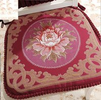arm chair classic - Sideli Classic European Puff Jacquard Decorative Chair pad Seat Cushion with Memory Filling and Belt for Fix
