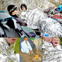 Wholesale Outdoor Emergency Blanket Life Saving Blanket Outdoor Survival Pad Heat Preservation Silver First Aid Free china post