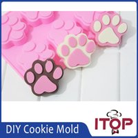 animal cake topper - ITOP DIY Cookie Cat Dog Paw Print Animal Silicone Chocolate Ice Mold Sugercraft Cake Topper Soap