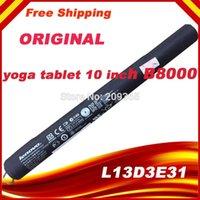 Wholesale Original Tablet Battery for LENOVO YOGA quot Tablet B8000 L13D3E31 L13C3E31 B8000 F B8000 H ICR19 V WH MAH