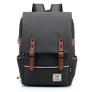 Wholesale hot sell fashion students school bags Laptop Backpack Computer Bag canvas Leisure travel backpack simple style
