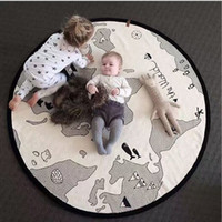 baby room flooring - Baby Rugs Cartoon World Map Round cm Playmats for Girls Boys Fashion Cotton Carpet White Children s Room Decoration Toys Cute