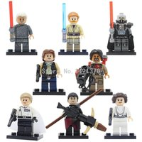 Wholesale Star Wars Rogue One Minifgures POGO Building Blocks Toys Minifigures PG8024 Han Solo Palpatine Obi Wan Starwars Toys For Children