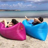 Wholesale Super Light Outdoor Portable Beach Lazy Fold Inflatable Sofa Bed Sofa Air Sofa Sleeping Bag Portable