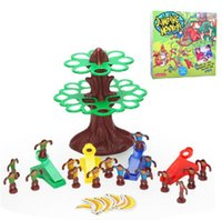 banana trees - Plastic toy gift jumping monkeys tree banana family fun Interactive Game set