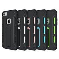 Le plus récent iPhone 7 Plus casque anti-chocs Cas multi-fonctionnel Kickstand TPU étui pour iPhone 7 6 6 Plus Shell de protection