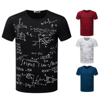 abstract t shirts - Learning Fashion Abstract Formula T Shirts Men s T Shirt O Neck Short Sleeve Colors Sizes Tops Tees TX87 R3