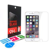 Wholesale 0 mm H Tempered Glass Screen Protector for iPhone SE S Plus S Samsung Galaxy S7 S6 A3 A5 A7 J3 with package