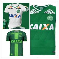 Wholesale Thai Quality Chapecoense SC Jersey home Away shirt white green Chapecoense camisas de futebol