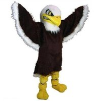 bald eagle costume - Custom made fierce bald eagle falcon mascot costumes Halloween Costumes Christmas Party Adult Size Fancy Dress high quality factory sale