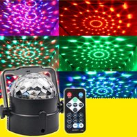 Wholesale LED RGB Magic Ball Crystal Effect Stage Light DJ Club Party Lighting Decoration Degree US Plug
