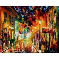 One Panel Oil Painting Abstract contemporary paintings by Leonid Afremov waves of excitement modern bedroom wall art high quality