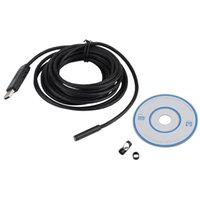 2M 7mm Lens USB Endoscope Waterproof 6 LED Borescope Tube Inspection Vidéo Photo Capture Mini caméra avec pilote CD Noir Nouveau