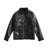 Wholesale 2017 New lambskin lapel Retro lace Original winter jacket cotton jacket Young men leather jacket