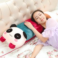 Wholesale Large Doll Heads - Large long pillow doll cute panda doll girl dolls to unpick and wash sofa cushion for leaning on of the head of a bed pillow