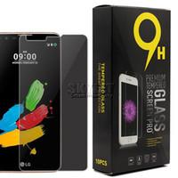 Écrans huawei Prix-Intimité verre trempé pour LG K10 K7 Film protecteur d'écran anti-explosion pour LG Stylus 2 K8 Huawei P9 Samsung ON5 avec 10pcs dans la boîte de détail