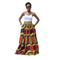 ankara clothing - Dashiki Skirt African Print Clothing Fashion Women Ankara Dashiki High Waist A Line Maxi Long Umbrella Skirt Ladies Jupe Longue Femme